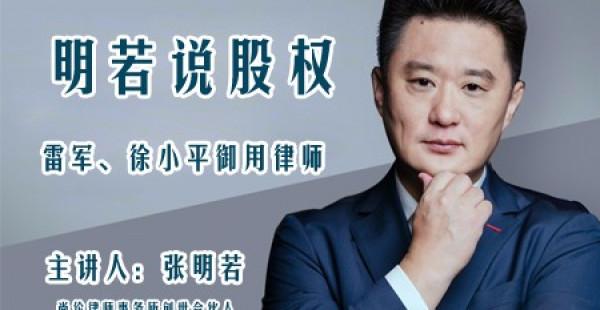雷军、徐小平御用股权军师:最好的股权设计,应该长什么样子?